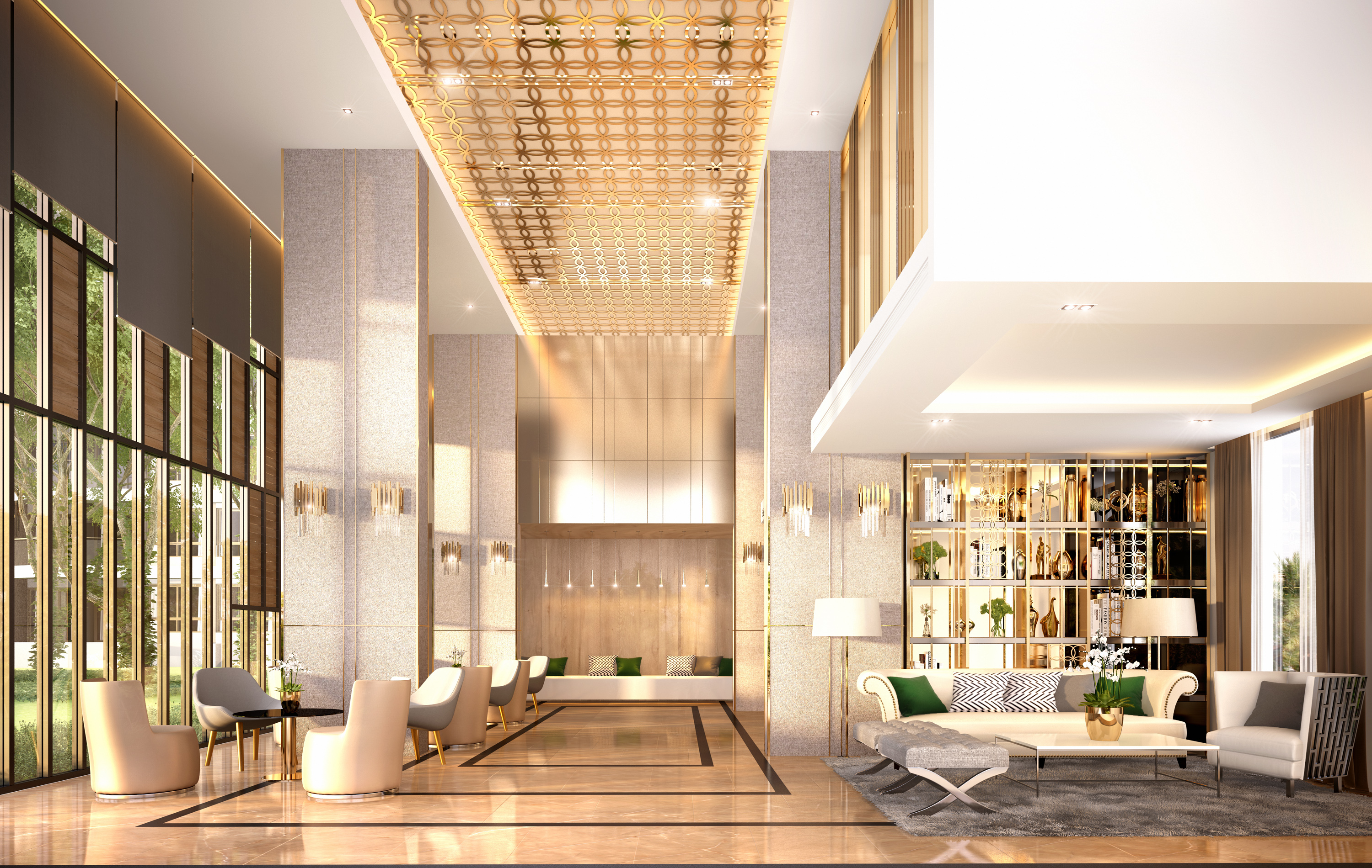 MetroLuxe Rose Gold Lobby A